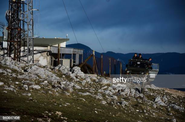 Road along the Bulgarian-Greek border. Tourists prefer the attraction of Orlovo Oko, which reveals a view to the three mountains, Rila, Pirin and...