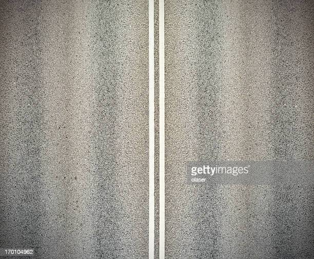 road, and double white lines - dividing line road marking stock pictures, royalty-free photos & images