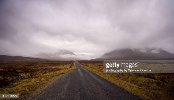 Road and mountain in Highlands