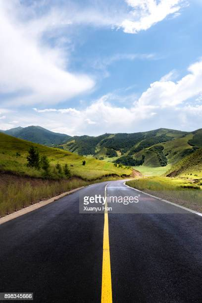 road and natural landscape
