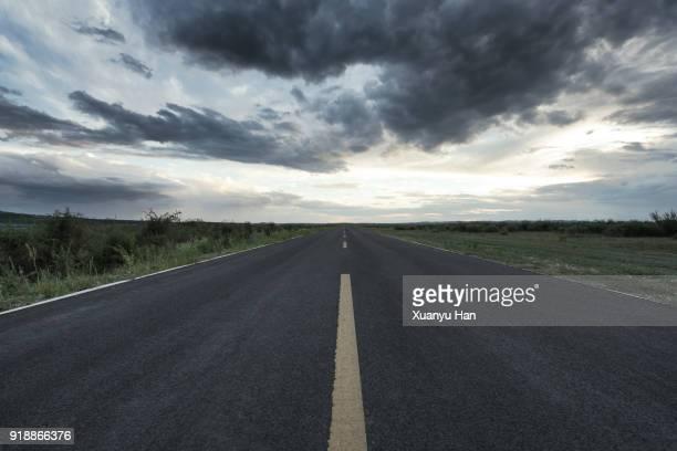 road and natural landscape