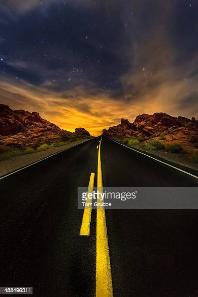Road and night stars