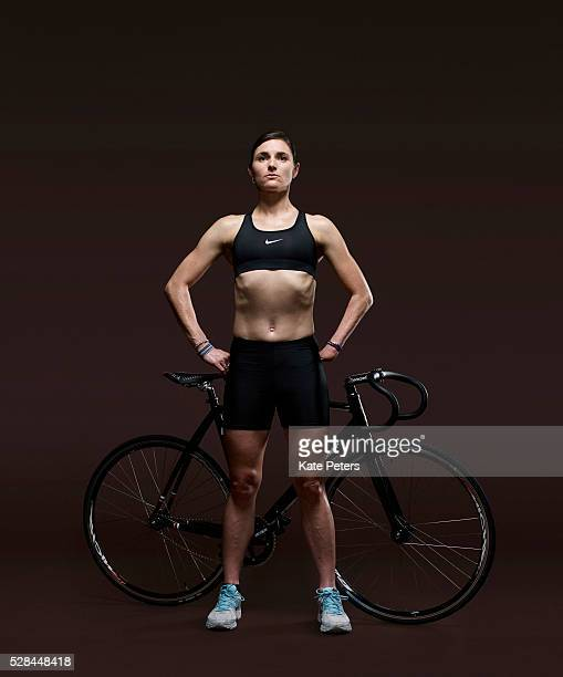 Road and track racing cyclist Sarah Storey is photographed for the Guardian on January 6 2012 in London England