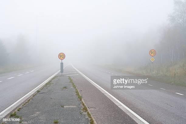 road at foggy day