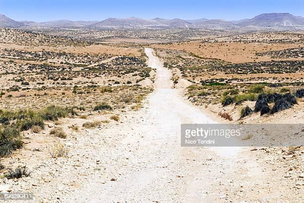 Road at Jebel Dahar, Medenine, Tunisia