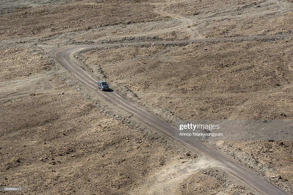 Road at Pangong Lake area. : Stock Photo