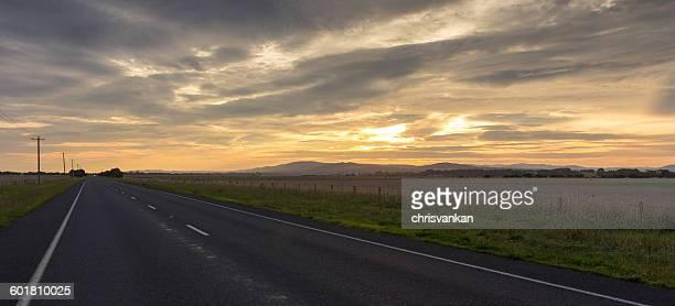 Road at Sunset, Alberton, Victoria, Australia