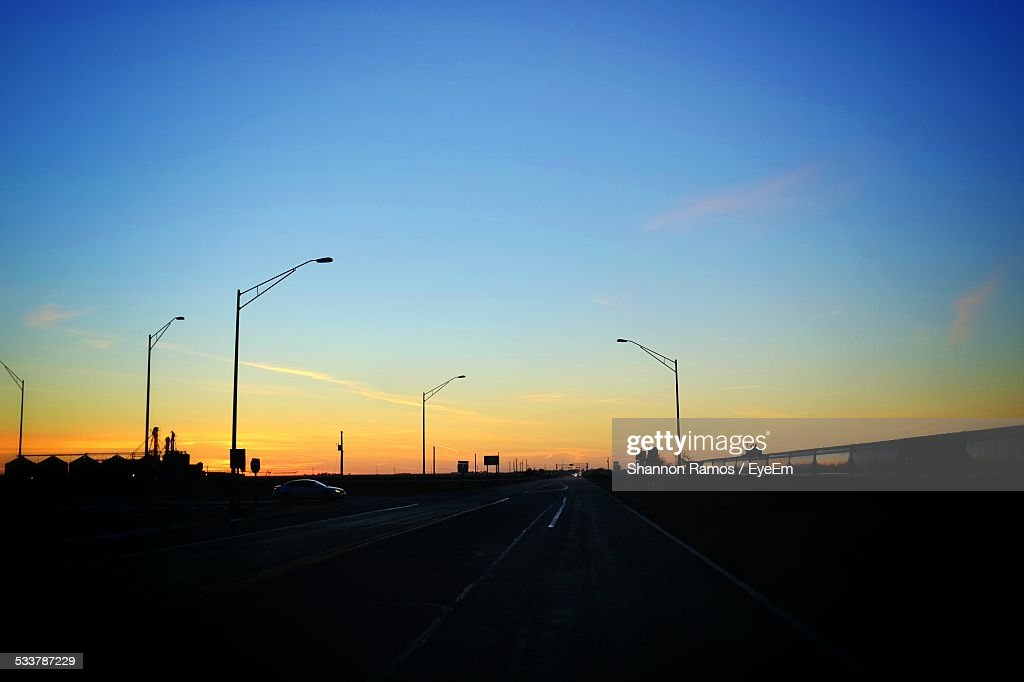 Road At Sunset : Foto stock