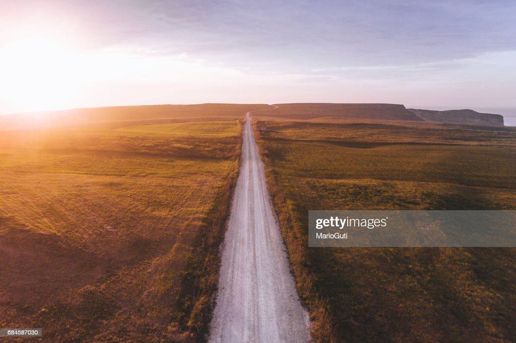 Road at sunset : Stock Photo