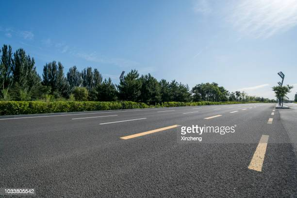 Road Side View No One And Horizontal Stock Photos Pictures