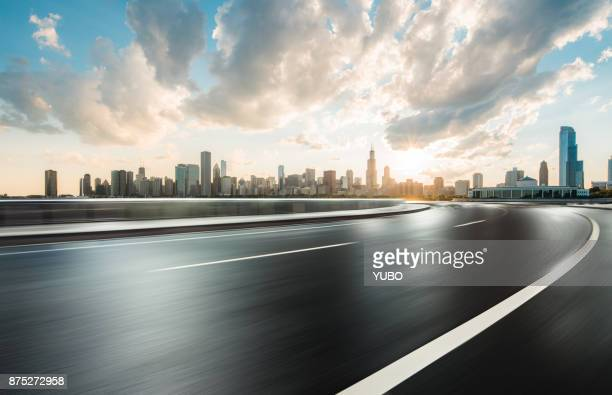 road background - cook county illinois stock photos and pictures