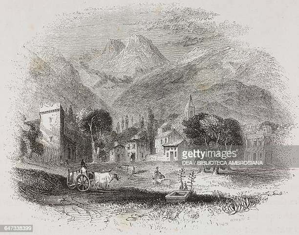 Road between Eleusis and Athens Attica engraving from Greece Pictorial Descriptive and Historical by Christopher Wordsworth