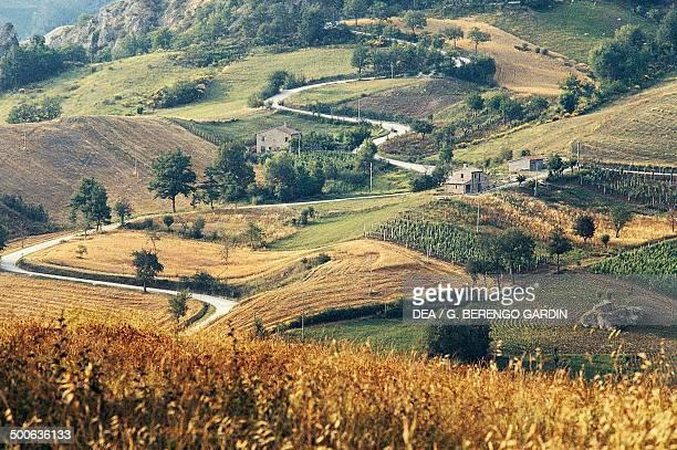 Road between fields, Republic of San Marino.