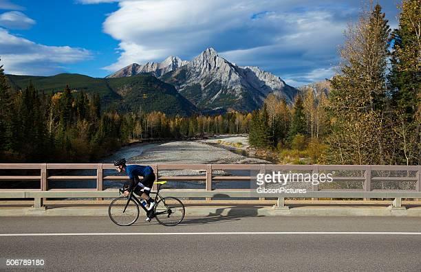 Road Bicyclist on Bridge
