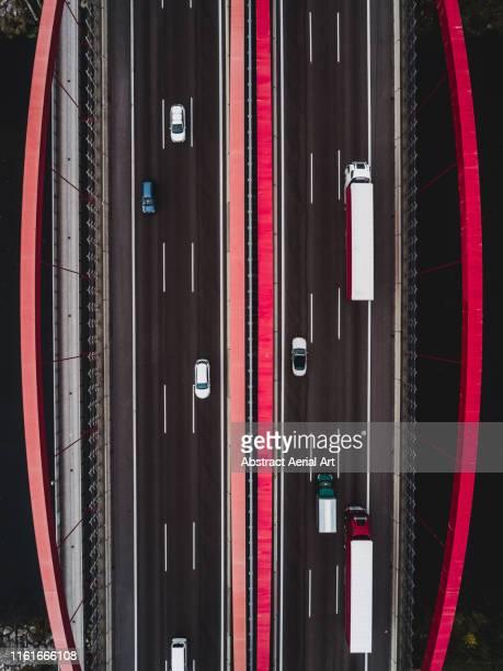 road bridge as seen from above, germany - drönare transportmedel bildbanksfoton och bilder