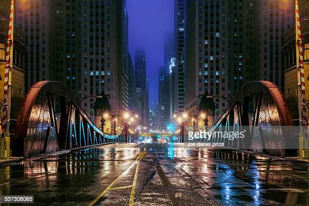 Road Bridge, Chicago, Illinois, America