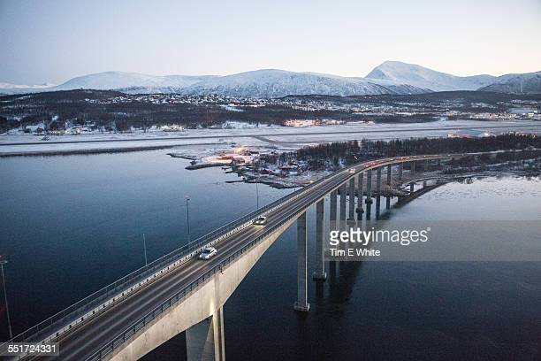 Road bridge, Tromso, Norway