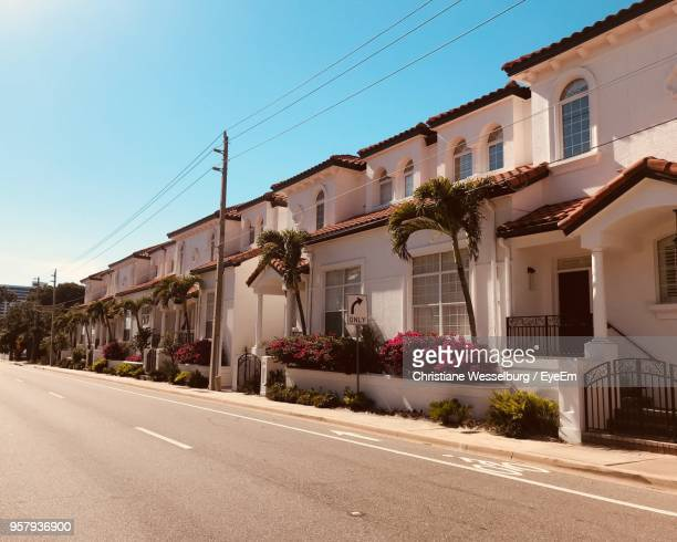 road by buildings against clear sky - sarasota stock pictures, royalty-free photos & images