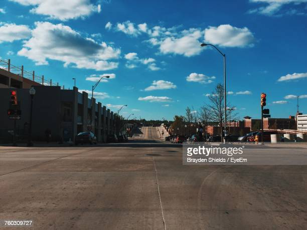 road by city against sky - tulsa stock pictures, royalty-free photos & images
