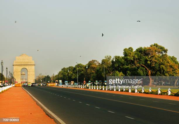 Road By India Gate Against Clear Sky