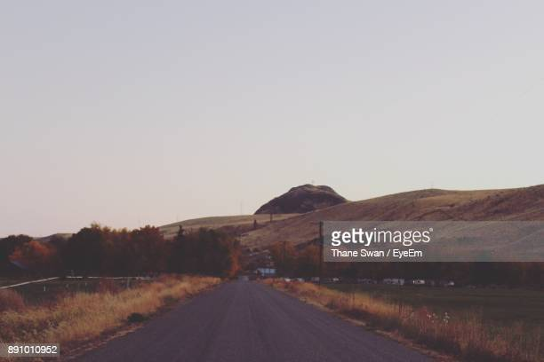 Road By Mountain Against Clear Sky
