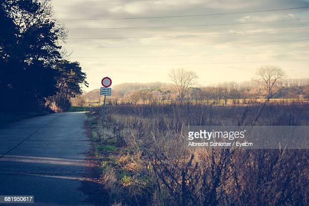 road by plants against sky - albrecht schlotter stock photos and pictures