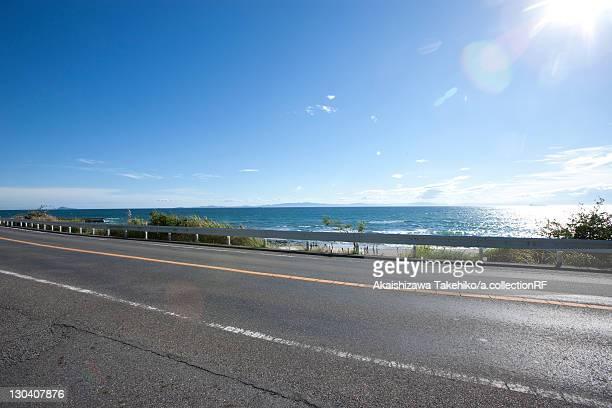 Road by sea, Aichi Prefecture, Japan