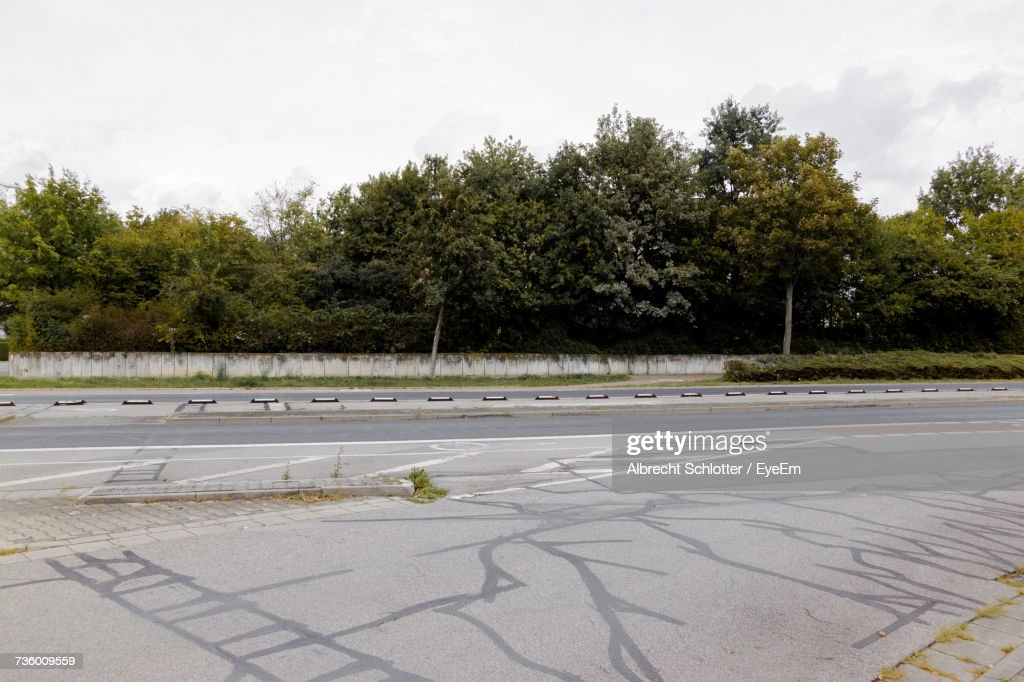 Road By Trees Against Sky : Stock Photo