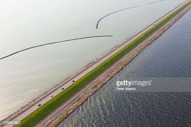 Road & Car, Dyke or Causeway, North Holland