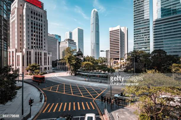 road, central, hong kong - central district hong kong stock pictures, royalty-free photos & images