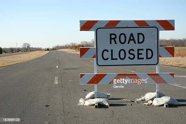 road closed - barricade stock pictures, royalty-free photos & images