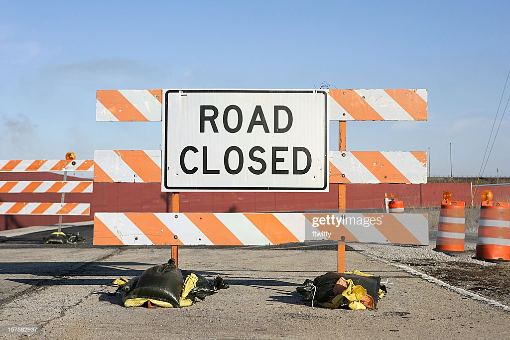 Road Closed Sign : Stock Photo
