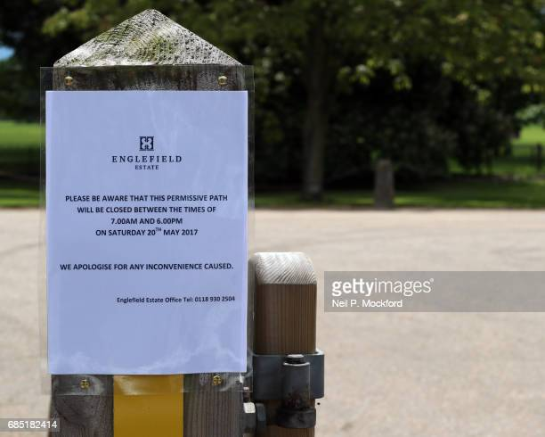 Road closures outside St Mark's Church ahead of the Wedding of Pippa Middleton and James Matthews on May 19 2017 in Englefield Berkshire