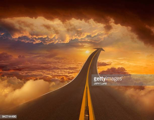 road connection to successful cloud computing - john lund stock pictures, royalty-free photos & images