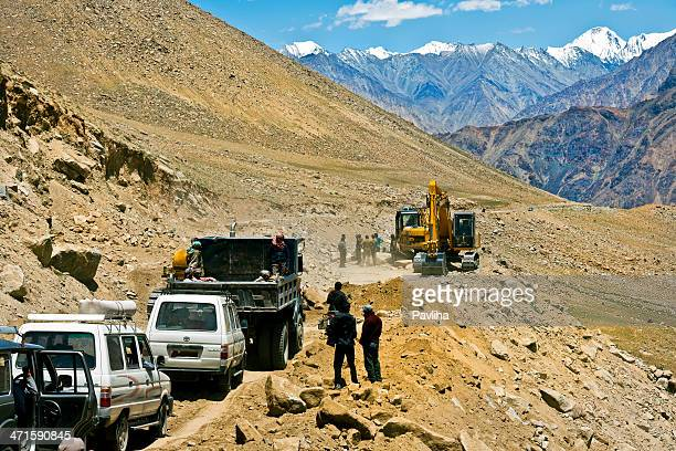 Road Construction in Ladakh Northern India