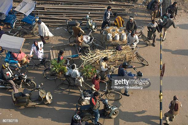 Road construction in New Delhi India has not kept pace with economic development and booming car sales February 15 2008 in New Delhi India It's...