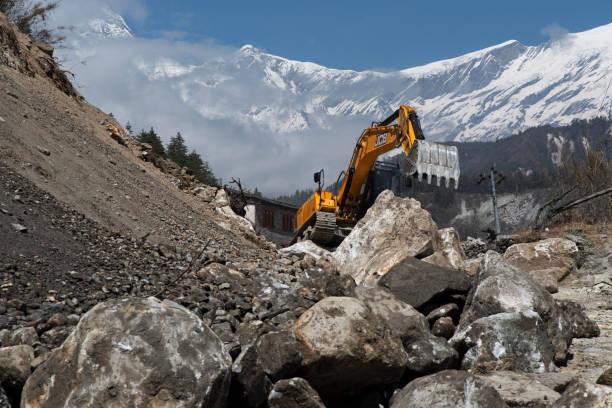 Road construction, Lete, Nepal