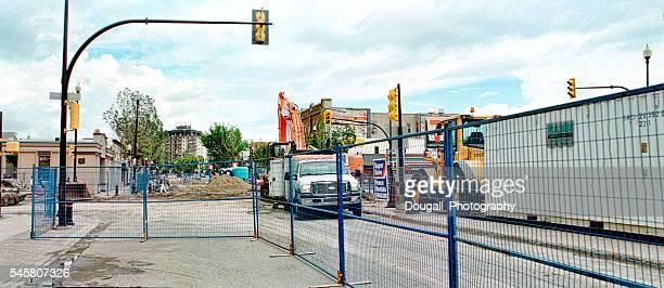 Road Construction on Broadway Avenue in Saskatoon