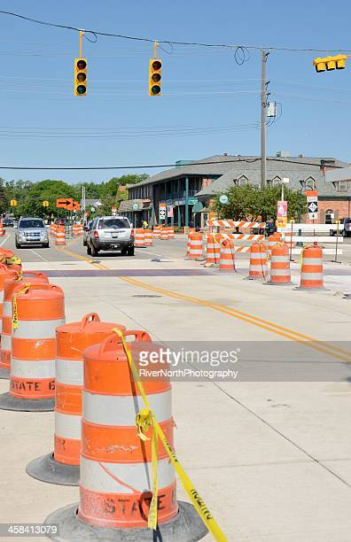 road construction - curbside pickup stock pictures, royalty-free photos & images