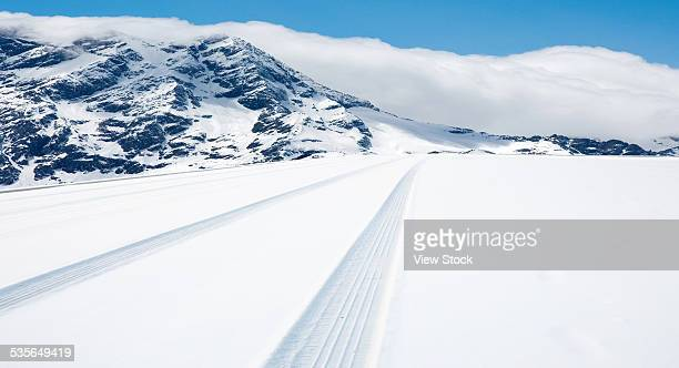 Road covered with the snow