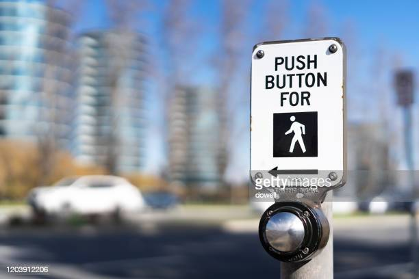 road crossing button wait - walk don't walk signal stock pictures, royalty-free photos & images