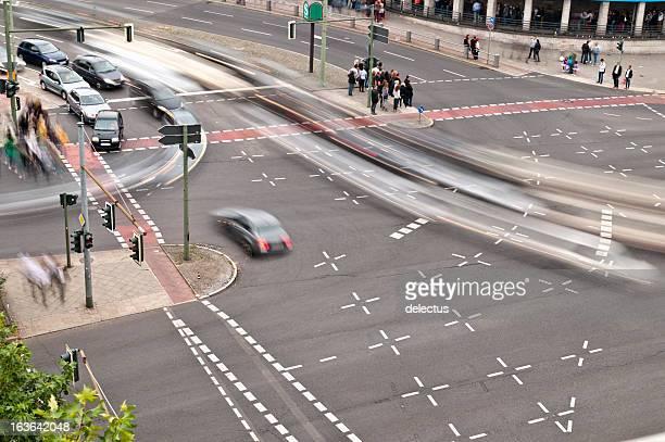 Road Kreuzung von oben