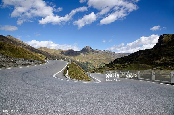 Road curve with mountain