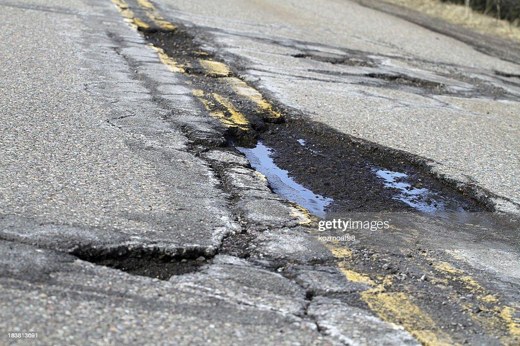 Road Damage : Stock Photo