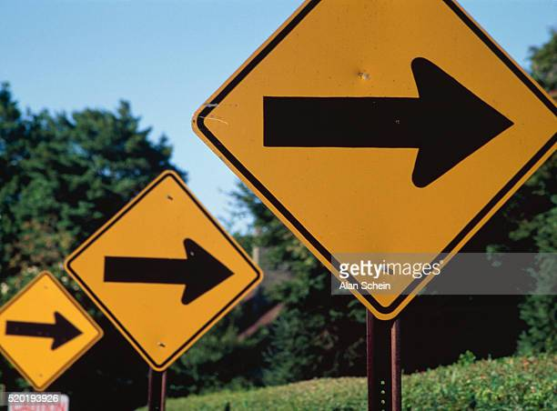 Road directional arrows