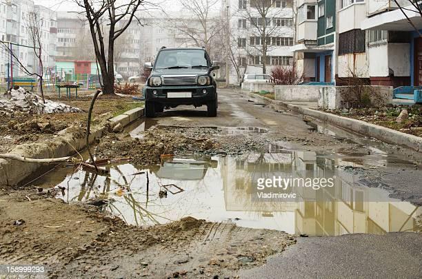 Straße schmutzig