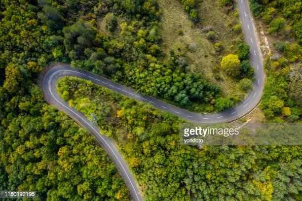 道路ドローンビュー - 高架道路 ストックフォトと画像