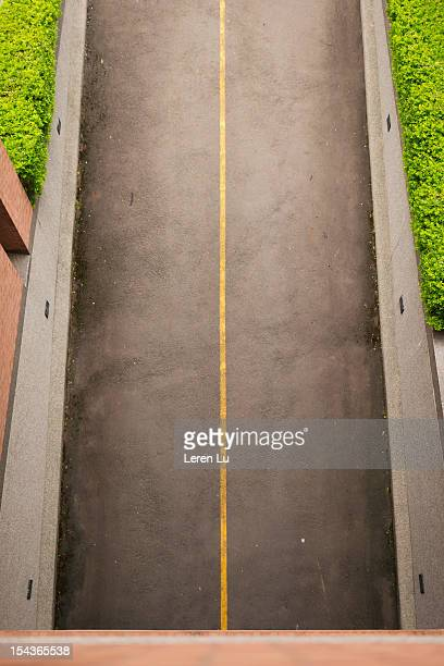 Road from a underground parking space