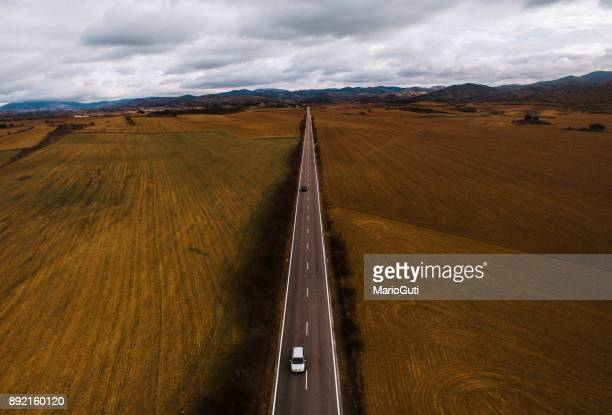 road from above - straight stock pictures, royalty-free photos & images