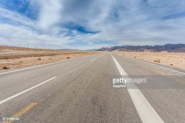 Road going through the mountains, Qinghai Province